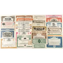 Miscellaneous US Stock Certificates & Bonds incl. Railroad and Mining