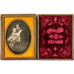 Mother and Child Daguerreotype by Chauncey Barnes