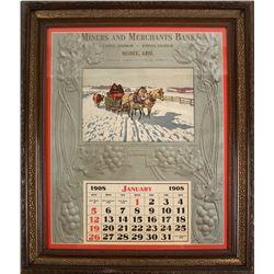 1908 Miners & Merchants Bank, Bisbee Calendar Beautifully framed