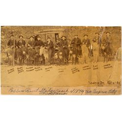 Picture of Armed Men Posing in Front of Stagecoach Robbed by Jesse James