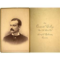 Original Bodie, California Cabinet Card