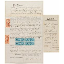 Bidwell Brothers Revenue Stamped Document