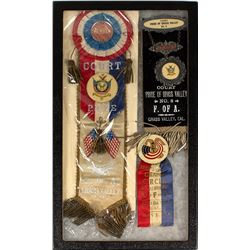 Three Rare Foresters of America Grass Valley Ribbons
