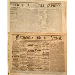 Three Very Early Marysville Newspapers