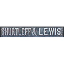 Very Large Charles Hepler and Shurtleff & Lewis Double Sided Sign