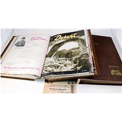 "Bound volumes of ""Desert"" Magazine"