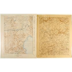 Two 1:25,000 Series California Maps: Placerville and Truckee