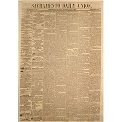Early Sacramento Daily Union Newspaper