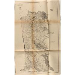 1869 Map of San Francisco Peninsula