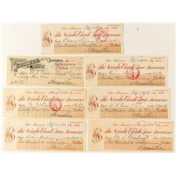 Adolph Sutro Signed Checks
