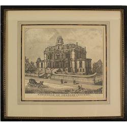 Framed Print of the Residence of Charles Crocker