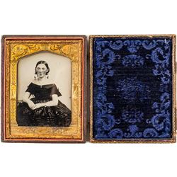Ambrotype Portrait of Spanish Lady by famed San Francisco Photographer William Shew