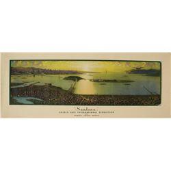 Panorama Print of San Francisco & Oakland Bridges