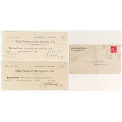 San Quentin Cover and Receipts