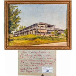 Painting of General Vallejo's Storage Barn