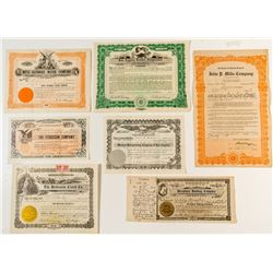 Southern California Stock Certificates