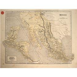 c1840 Mexico & New California Map