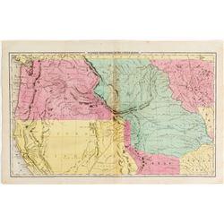 Pre-Gold Rush Western Territories Map