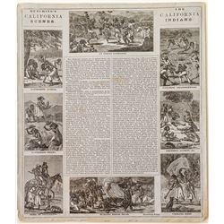 """Hutchings' California Scenes/The California Indians"" Lettersheet (Gold Rush Era)"