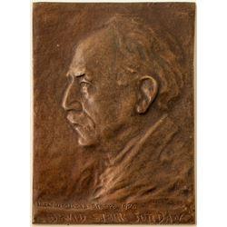 Bronze Plaque of David Starr Jordan