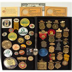 California Button, Badge, and Souvenir Collection