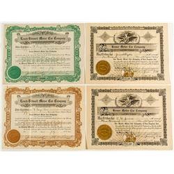 Four Automobile Company Stock Certificates