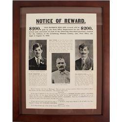 Reward Poster for Three Montenegro Robbers