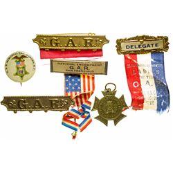 Grand Army of the Republic Memorabilia (Pins, Badge, Medallion)