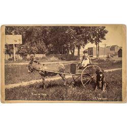 "Boulder Cabinet Card by J.B. Sturtevant (""Rocky Mountain Joe"")"