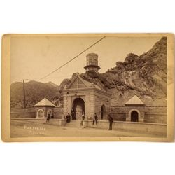 Cabinet Card Photograph of Soda Springs Gateway