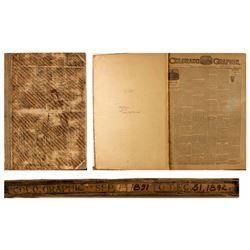 """""""The Colorado Graphic"""" Bound Copies (1891-1892)"""
