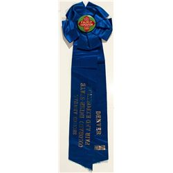 Ribbon from the 2nd Annual Colorado Interstate Fair and Exposition