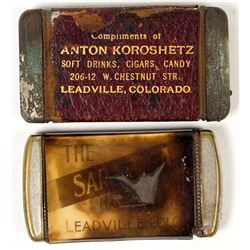 Leadville Match Safe: Soft Drinks, Cigars, Candy