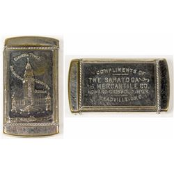 Leadville Silver-Plated Match Safe: Pan-American Exposition