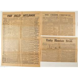 Three Volume 1, Number 1 Newspaper Reprints from Colorado