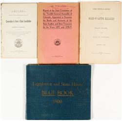 Colorado State House Publications (1876-1899)
