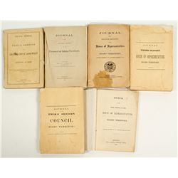 Journals from the Idaho Territory House of Representatives