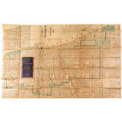 Blanchard's 1899 Pocket Map of Chicago