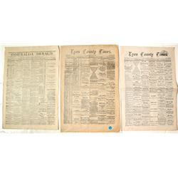 Three Nevada Mining Town Newspapers: Aurora and Silver City (Comstock)