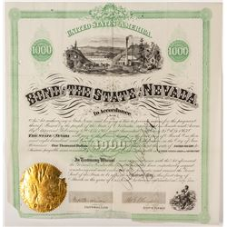 1867 Bond of the State of Nevada w/ Governor Blasdell Signature