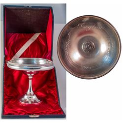 All Saints Engraved Silver Wafer Bowl with Original Box (Dayton, 1883)