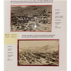 Two Rare Birdseye Real Photo Postcards of Eureka, Nevada