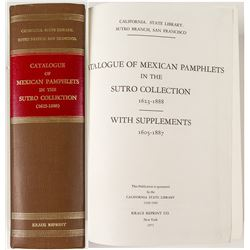 Catalog of Mexican pamphlets In The Sutro Collection