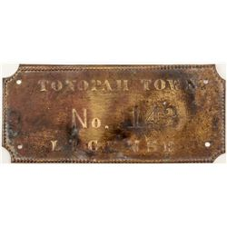 Tonopah Town License: Number 143