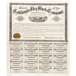 California Dry Dock Co. Bond signed by J.C. Flood (Comstock Bonanza King)