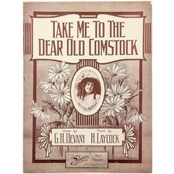 """Take Me to The Dear Old Comstock"" Sheet Music"