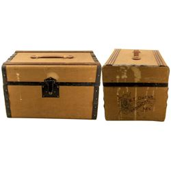 Antique Virginia City Masonic Trunk for a Comstock Miner (c.1890s)