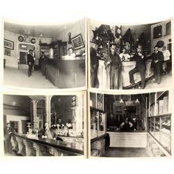Four Virginia City & Gold Hill, Nevada Saloon Interior Photographs (Reproductions)