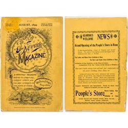 The Nevada Magazine Vol. I, No. I August 1899 Rare!