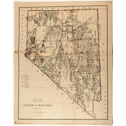 Large Nevada State Map (1879)